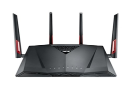 Asus RT-AC88U Wireless Dualband AC3100 Pro-Gamer WLAN Router (1.4 GHz Dual-Core CPU, App Steuerung, AiProtection by Trendmirco, Wave2 Mu-Mimo, Multifunktion-USB 3.0) -