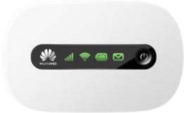 Huawei E5220 Mobiler Wifi WLAN-Router (deutsche Version, bis zu 10 WLAN-Zugänge, 5s Boot-Zeit, HSPA+) weiß -