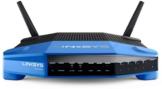 Linksys WRT1200AC-EU Wireless AC1200 Open Source Router (1200Mbit/s, Dual Band, 4 Gigabit Ethernet Ports, 1x USB 3.0, Smart WiFi app), schwarz -