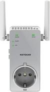 NETGEAR EX3800-100PES AC750 Universal WLAN Repeater (inkl. Steckdose, RJ-45, 750Mbit/s, An/Aus Schalter) weiß/silber -