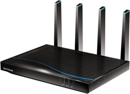 Netgear R7800-100UKS) Nighthawk X4S 1733 (800 + Mbps) Quad Stream Gigabit Kabel Smart Wireless 11 AC Gaming Router Fastest (AC5300 Mbps) -