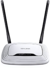 TP-Link TL-WR841N WLAN-Router (für Anschluss an Kabel-/DSL-/Glasfasermodem, 300 MBit/s, 4-Ethernet-Port, Zwei nicht abnehmbare Antennen) (Amazon frustfreie Verpackung) -
